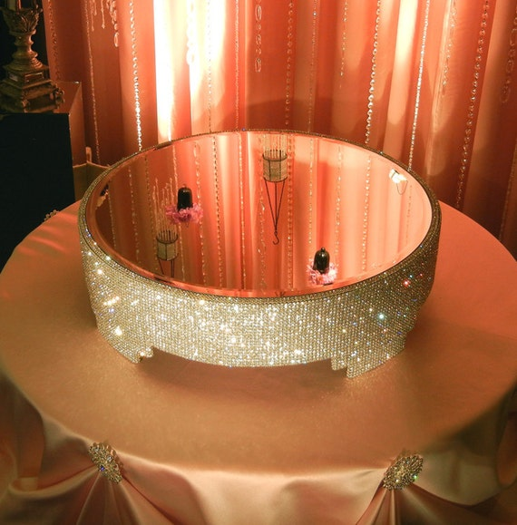 Diy Cake Stand Wedding Ideas: 20 Round Crystal Covered Cake Stand