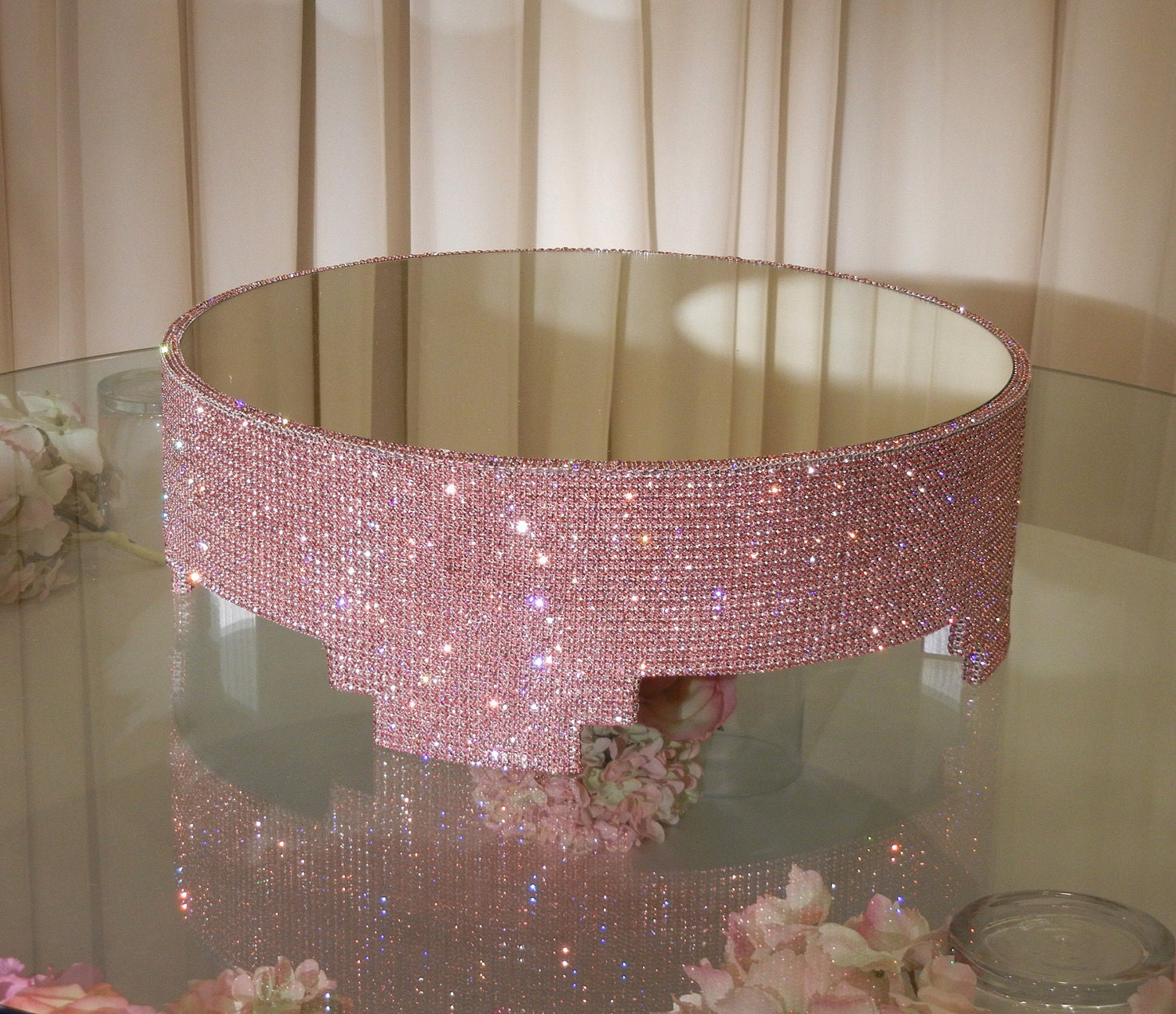 18 Round Crystal Covered Cake Stand