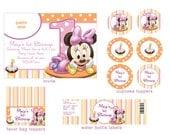 Baby Minnie Mouse 1st Birthday Party Package Digital File