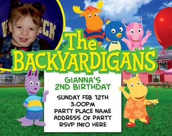 Backyardigans Invitation Digital File 4X6 or 5X7