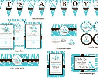 Wild Safari Baby Shower Printable Package- Digital Files