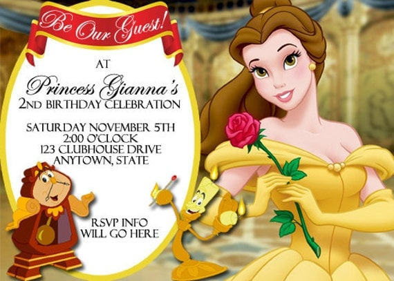 Beauty And The Beast Party Invitations with beautiful invitations template