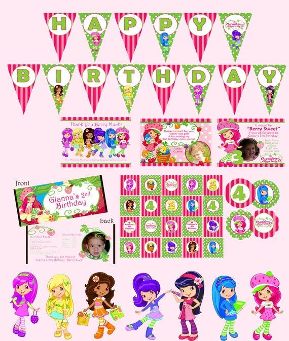 Strawberry Shortcake Digital Birthday Party Package