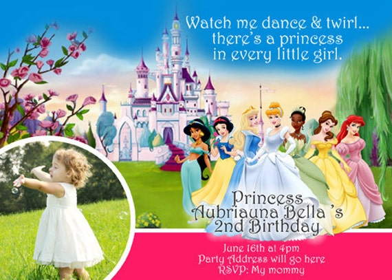 Invitations Princess for awesome invitations layout