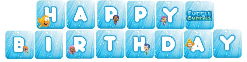 Bubble Guppies Birthday Banner Printable Hot Girls Wallpaper