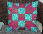 Turquoise Ripple Pillow Cover