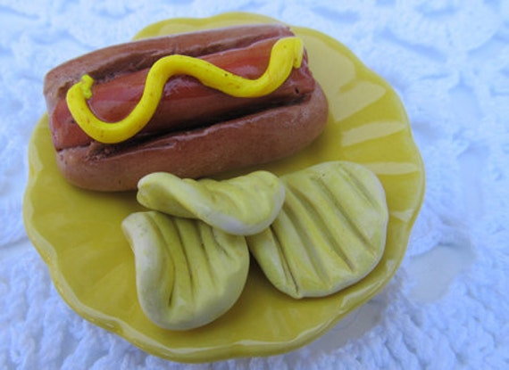 Hot Dog and Chips 18-inch doll food