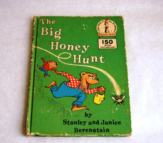 Vintage Children's Book, The Honey Hunt Berenstain Bears 1962