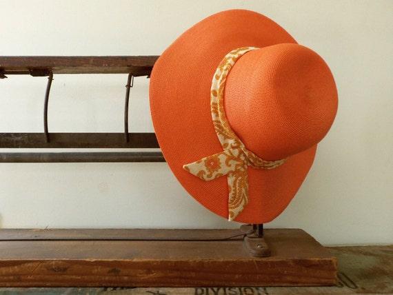Vintage Beach Hat / 1960's Hat / Vintage Garden Hat / Vintage Hudson's Hat