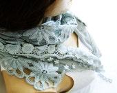 Gray Gauzy scarf