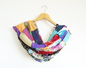 Patchwork Shawl / Cotton Scarf / Multi Color Scarf / Turkish Handmade Shawl / Patchwork Pashmina / High Quality