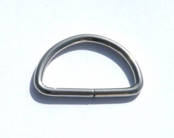 Dee Ring 1 inch (25mm) Nickel plated 50 each