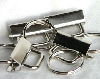 Key Fob Hardware Key Chain 1.25 inch Nickel Plated 25 sets