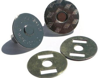 Magnetic Snap 20 sets 18mm 2 mm thin Nickel Plated