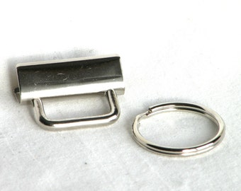 Key Fob Hardware 1 inch Nickel Plated 100 sets