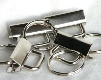 Key Chain Key Fob Hardware 1.25 inch Nickel Plated 40 sets