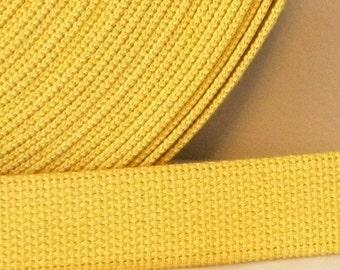 Cotton Webbing Yellow Maize Purse Bag Straps Leash 2.5 yards