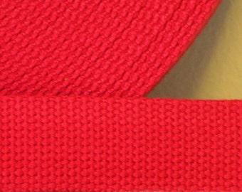 Cotton Webbing Red Key Fob Key Chain Purse Bag Straps Leash 1 yard