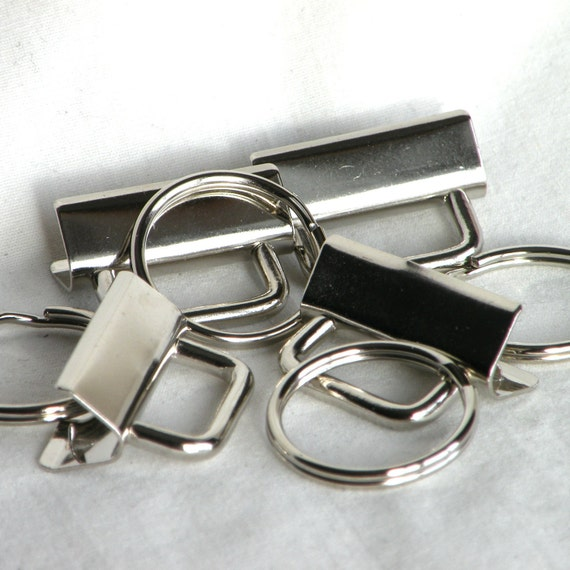 Key Fob Hardware Key Chain 1.25 inch Nickel Plated 25 sets