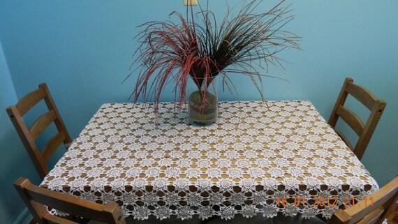 """Crochet Tablecloth - """"Sunflower"""""""