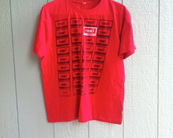 Red Cassette Tape T