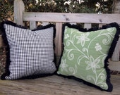 Custom made 16' Pillows with Brush Fringe