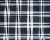 Black and Off White Plaid Designer Upholstery Fabric 1 Yard