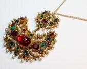 Vintage Capri Jeweled Necklace