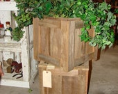 Planter, Outdoor Planter, Reclaimed Planter, Barnwood Planter