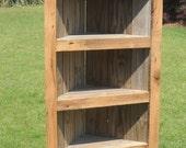 Barn wood Bookcase, Barn wood Corner Bookcase, Corner Bookcase, Rustic Bookcase, Reclaimed wood