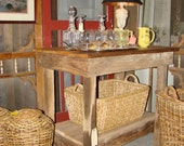 Kitchen Island, Kitchen Buffet, Rustic Reclaimed wood Kitchen Island,  Rustic Bar