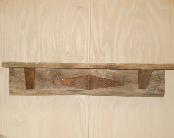 Rustic Shelf, Rustic Shelf with rusted hinge and nail