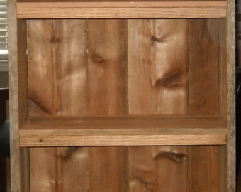wood Bookcase, Rustic Bookcase, Reclaimed wood