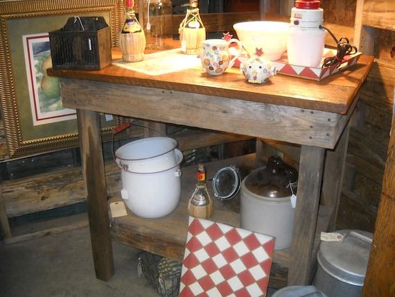 Isla de cocina, buffet de cocina, cocina rústica Barnwood Isla, Bar