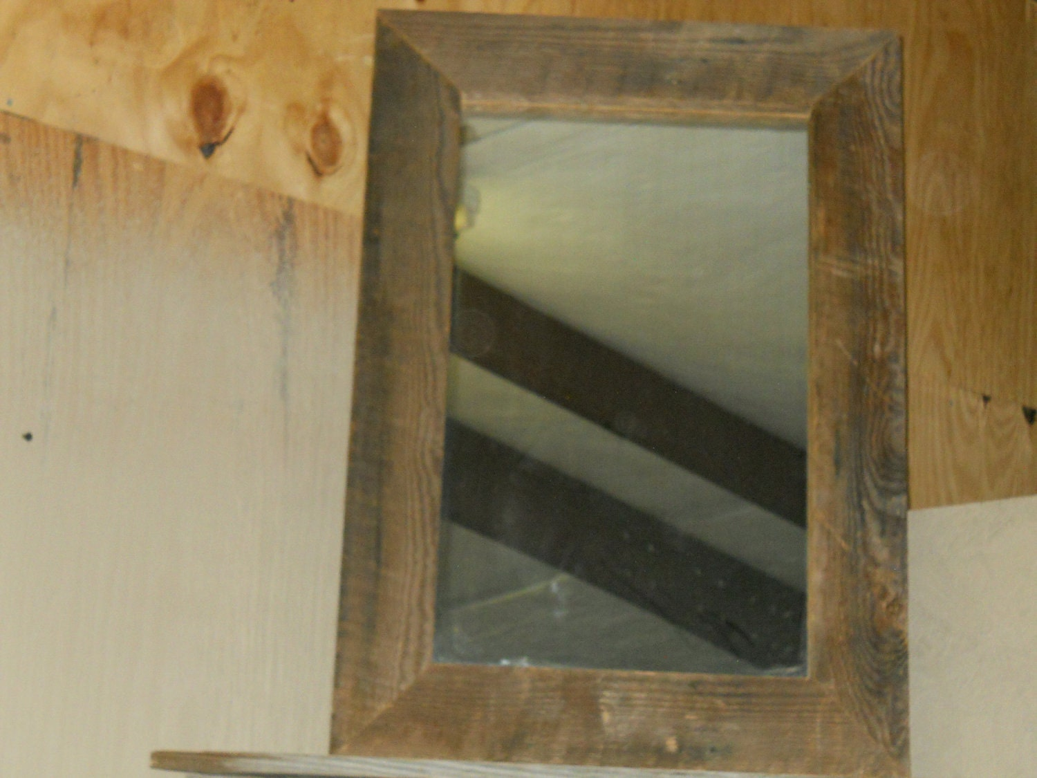 DIY Framed Mirror  Wood and Steel  YouTube