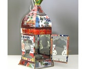 Recycled Tin Can Lantern Moroccan Candle Holder Terrarium