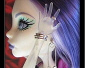 Monster High Custom Doll Jewelry: Safety Pin Earrings, Bangle Bracelets & Ring