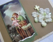 Good St Joseph Handmade Card Catholic