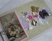 Christmas A9 Handmade Card Catholic Holy Family Nativity Scene Lavender