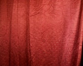 1950's Burgandy Curtains with Gold Threads