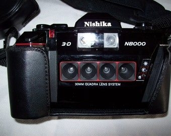 Nishika 3-D N8000 Camera w/ Case