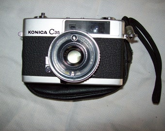 Konica C35 Camera with Case