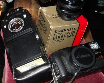 1990's Canon Camera and Accessories LOT
