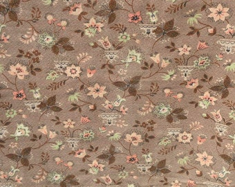 1940's Barkcloth - Montrose - A Fabulous Vat Print - Min. Purchase: 2 yds