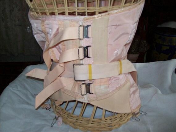 Vintage Pink Corset - Underbust - Steel Boning