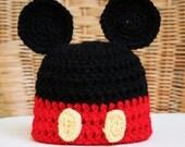 Mickey Mouse Ears Crochet Hat - Disney Beanie