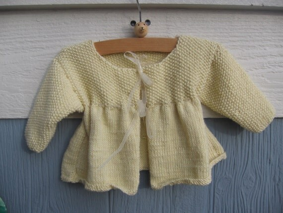 Luxury Cashmere Blend Baby Jacket With Matching Ribbon Ties In Delicate Buttermilk