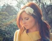 "Fall Headband- Autumn Hair Accessory-Bridesmaid headband-Flower Girl-Vintage Inspired- Boho Chic- Holiday Bow- Bohemian- ""Mixed Elegance"""
