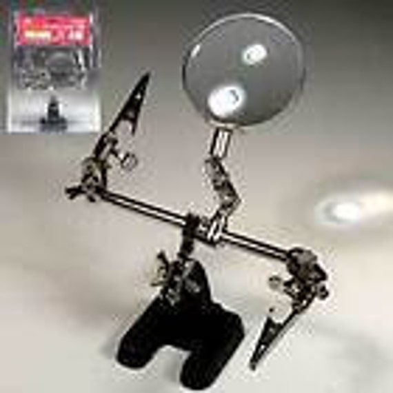 New Helping Hands Tool for Jewelry Artists with Magnifier LAST IN STOCK