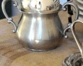 Vintage Empire Pewter Sugar Cup